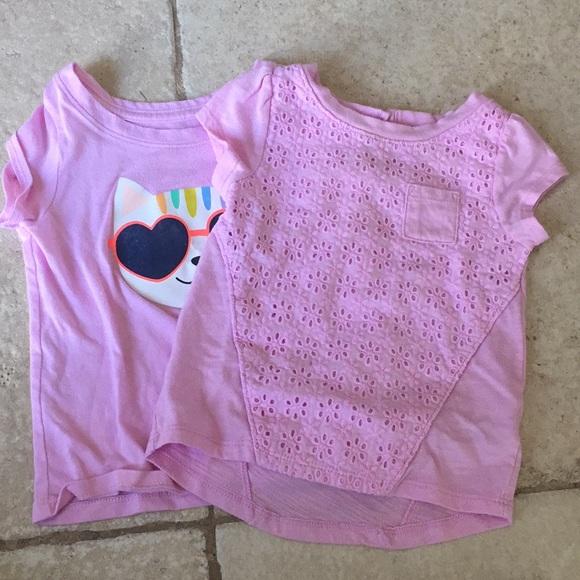 Girls Cute Unicorn Shirt Cat /& Jack Short Sleeve Youth CHOOSE SIZE Pink Gold NWT